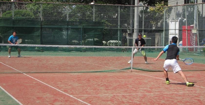 てづかテニススクールマッチ練習会風景写真